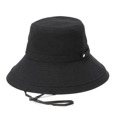 日本AUBE 金屬扣寬檐可折疊抗UV漁夫帽