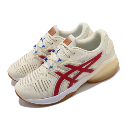 Asics 慢跑鞋 Gel Quantum Infinity 男 亞瑟士 運動休閒 緩震 透氣 亞瑟膠 米紅 1021A390201