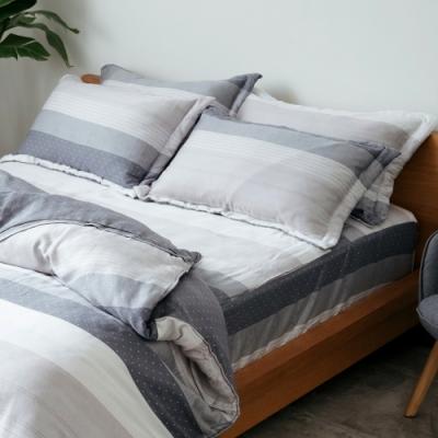梵蒂尼Famttini-40天絲雙人三件式全鋪棉床包組--卡布奇諾