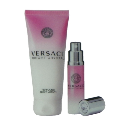 Versace Bright Crystal 香戀水晶淡香水 10ml +身體乳無外盒包裝