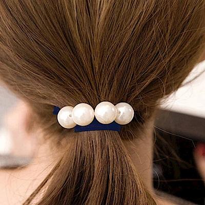 Hera 赫拉 韓版兩用經典串珠髮圈/手圈-藏青色