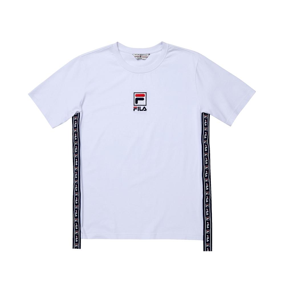 FILA #日潮攻略首部曲 短袖圓領T恤-白色 1TEU-1412-WT