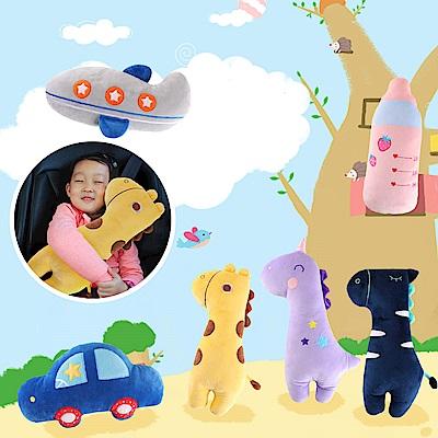 半島良品 動物卡通車用多功能安全帶抱枕 (6款)