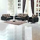AS-克迪萊夫黑皮1+2+3人座布沙發