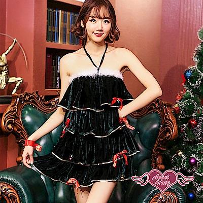 角色扮演 杉樹女神 聖誕風格連身裙派對表演服(綠F) AngelHoney天使霓裳