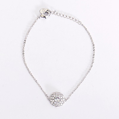 微醺禮物 鍍白金 奢華鋯石 綻放 手環 手鐲