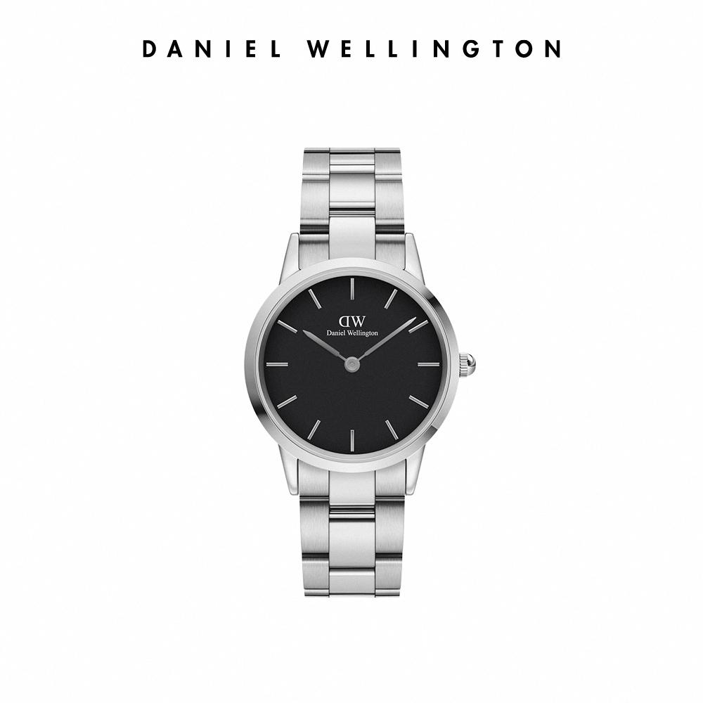 【李聖經配戴款】DW 官方直營 Iconic Link 36mm精鋼錶-耀目亮銀 DW手錶 男錶