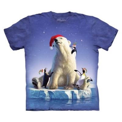 摩達客-美國The Mountain 聖誕北極動物 純棉環保短袖T恤