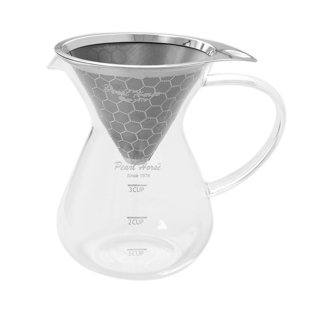 日本寶馬 巴魯尼手沖咖啡壺400ml(蜂巢式雙網) TA-G-10-3D