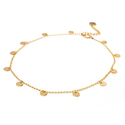 LOVERS TEMPO加拿大品牌 小巧圓形 金色頸鍊