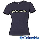 Columbia 哥倫比亞 女-LOGO快排短袖上衣深藍-UAR19730NY