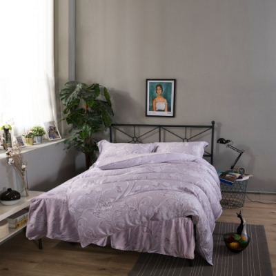 夢工場繆斯女神40支紗萊賽爾天絲四件式鋪錦床罩組-特大