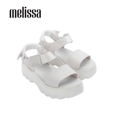 Melissa KICK OFF質感厚底涼鞋-白
