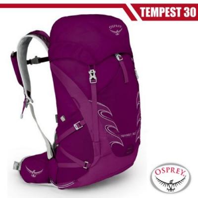 OSPREY 女新款 Tempest 30L(S/M) 輕量透氣健行登山背包_神秘紫 R