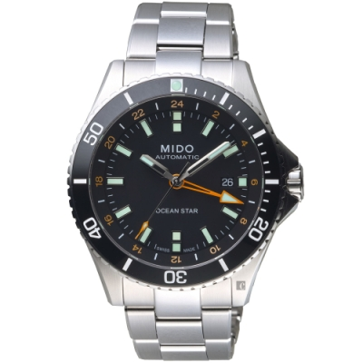 MIDO美度 Ocean Star 海洋之星 GMT 200米潛水機械錶-44mm
