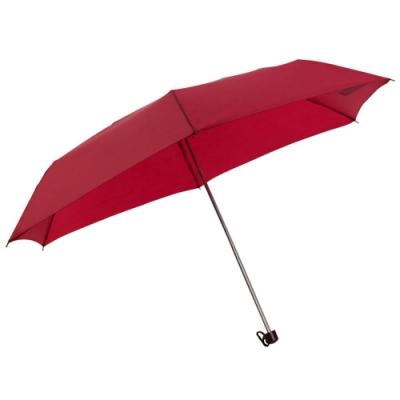 樂嫚妮 防水輕量三折傘-紅