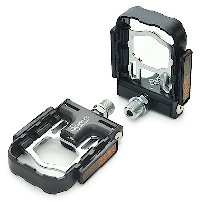 SAPIENCE 專利磁吸式折疊踏板 鋁合金培林踏板(YP-126) -黑