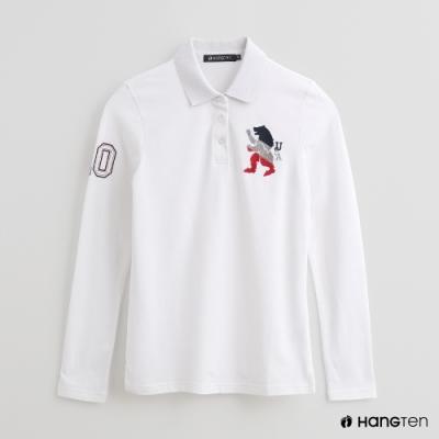Hang Ten - 女裝 - 造型刺繡POLO衫 - 白