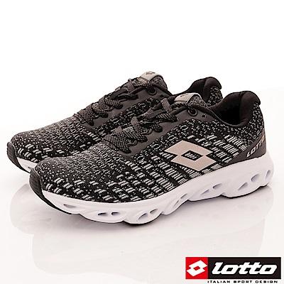 Lotto樂得-風動編織跑鞋-RSI610黑玫瑰金(女段)