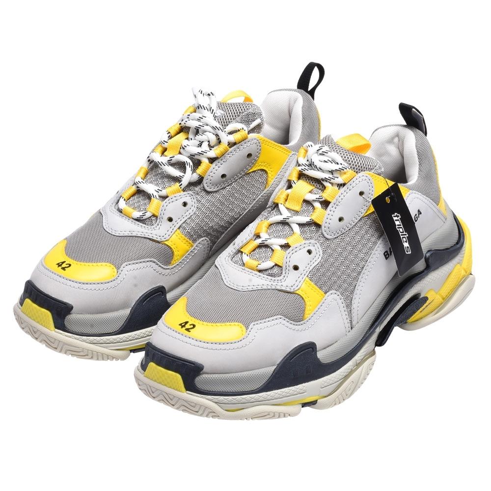 BALENCIAGA TRIPLE S TRAINERS系列休閒鞋(灰X黃)