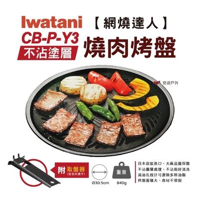 【Iwatani 岩谷】網燒達人不沾塗層燒肉烤盤 CB-P-Y3 (悠遊戶外)