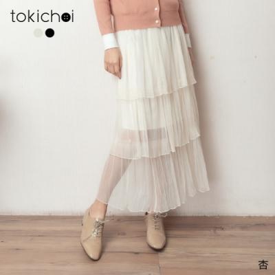 東京著衣 浪漫日系網紗多層次蛋糕裙(共二色)