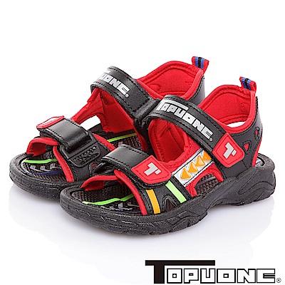 (雙11)TOPUONE 輕量減壓吸震防滑運動休閒涼鞋-黑