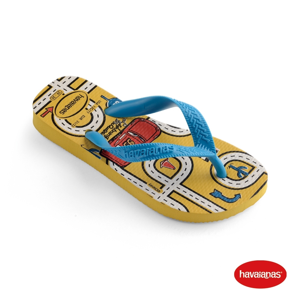 Havaianas 哈瓦仕 拖鞋 夾腳拖 人字拖 迪士尼 汽車總動員 巴西 童鞋 兒童 金黃 4123463-0776K Kids Cars