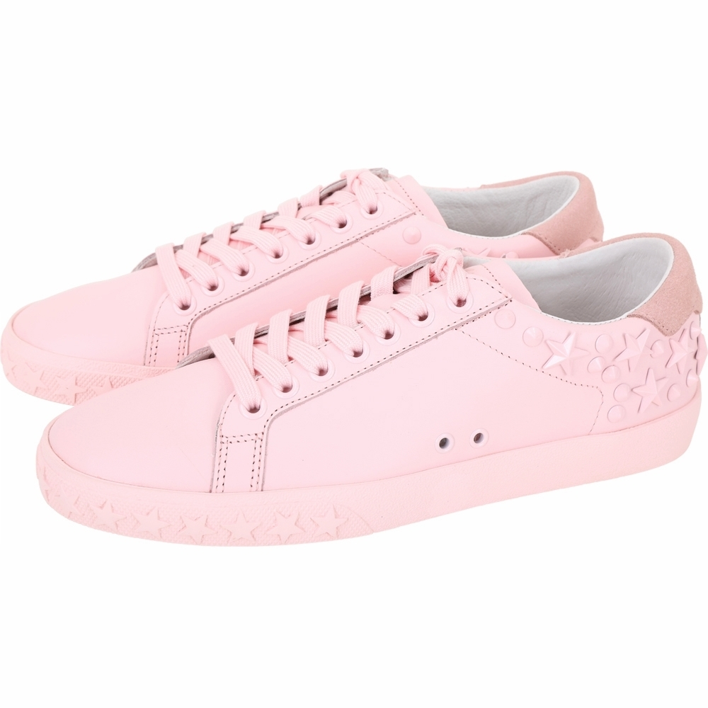 ASH Dazed 星星鉚釘細節繫帶休閒鞋(粉紅色)