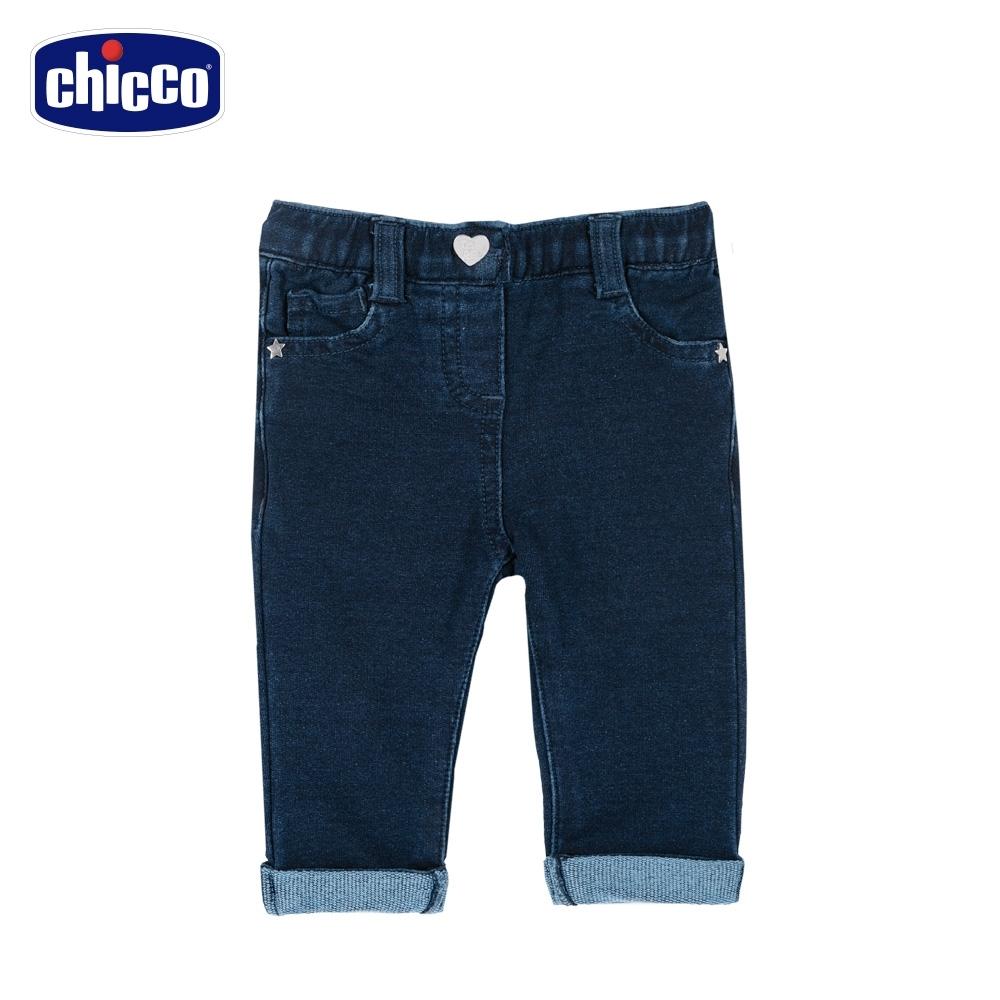 chicco-TO BE Baby-水洗針織彈性牛仔長褲