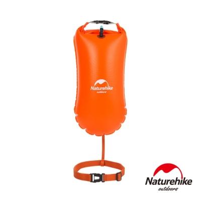 Naturehike 戶外超輕量單氣囊充氣游泳防水袋 裝備袋 8.5L 附腰帶 橘色-急