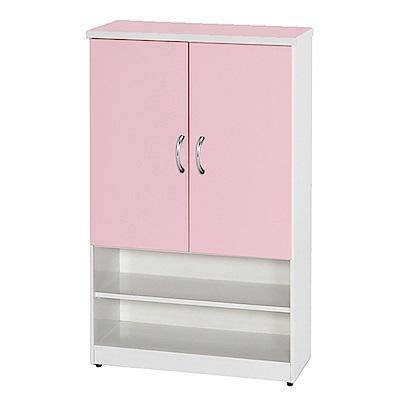 文創集 蘿倫環保2.8尺塑鋼二門鞋櫃(11色)-83x36.5x106cm-免組
