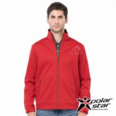 PolarStar 男 防風Soft Shell外套『紅』P19203