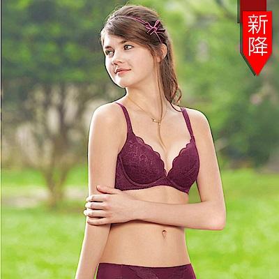 曼黛瑪璉-15AW水迷人系列三 B-D罩杯內衣(茶花紅)