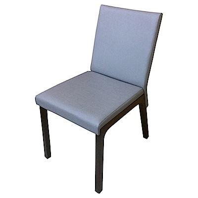 AS-Eden深胡桃灰皮面實木餐椅-46.5x59x86.5cm