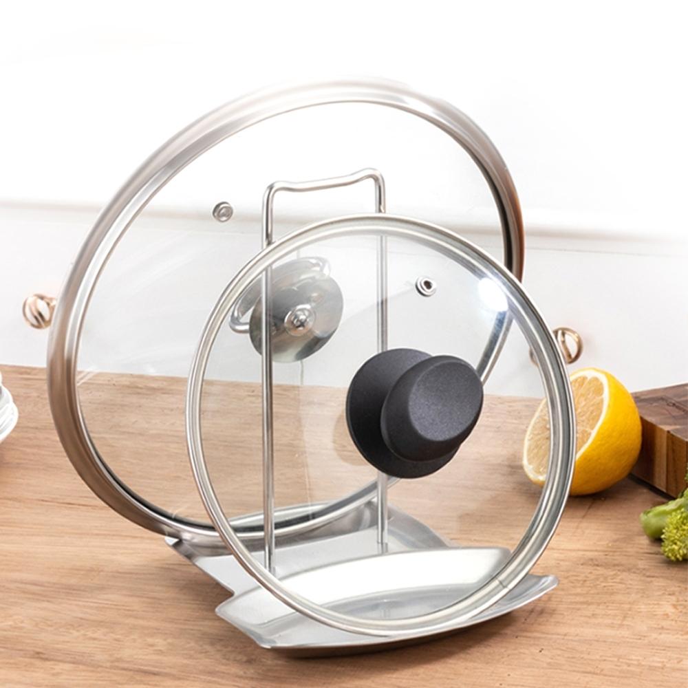 Conalife 多功能304不鏽鋼湯勺鍋蓋架(3入)