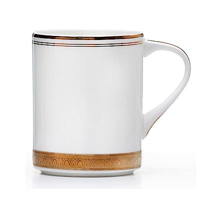 Royal Duke 骨瓷馬克杯380ml-黃金香頌(純白)