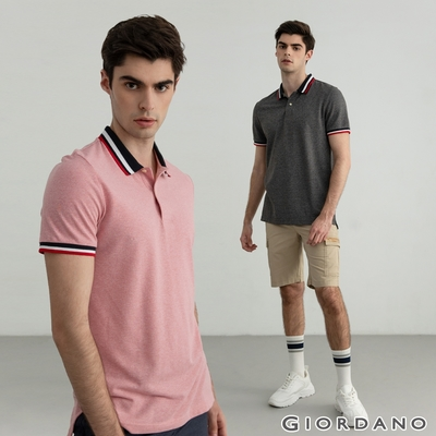 【時時樂】GIORDANO男裝 素色針織短褲POLO衫 (多款任選)