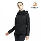 【hilltop山頂鳥】女款防風透氣保暖刷毛外套H22FV5黑美人