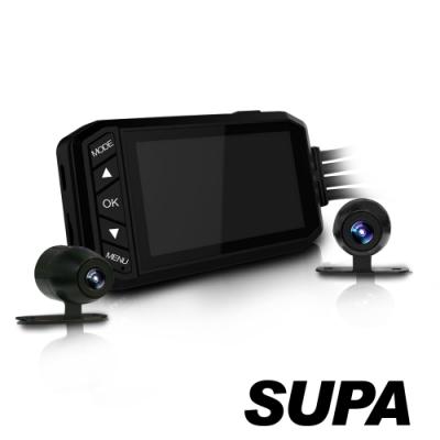 速霸T3 前後Full HD 1080P 金屬防水機車雙鏡行車記錄器-快