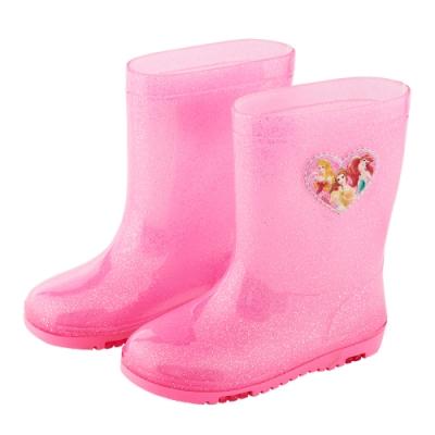 迪士尼童鞋 公主 趣味造型中筒雨鞋-粉