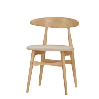 MUNA 洛娜餐椅(皮)(實木)(1入) 52X46X74cm