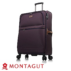 MONTAGUT 夢特嬌-MIT-30吋多色復古文青大雙輪輕量箱(超輕量聚酯纖維)