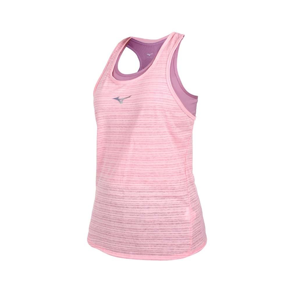 MIZUNO 女兩件式瑜珈背心-台灣製 運動內衣 BRA 上衣 反光 美津濃 K2TA120464 藕紫粉