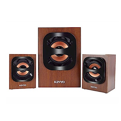 KINYO 古典美2.1聲道3D木質音箱喇叭/音響(KY-1702)視聽雙重享受