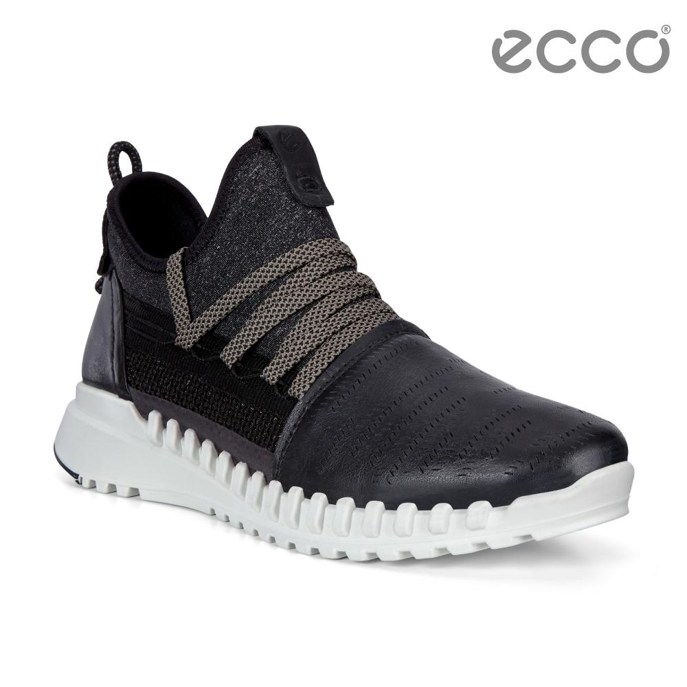 ECCO ZIPFLEX W 酷飛運動透氣運動休閒鞋 女鞋黑色