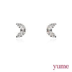 YUME - K金小月亮晶鑽耳環