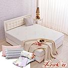(母親節特惠組)LooCa 水漾天絲5cm天然乳膠床墊-加大6尺