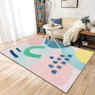 BUNNY LIFE 山芋粉-北歐風舒柔水晶絨地毯