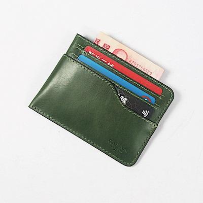CALTAN-卡片夾 名片夾 流線設計 鈔票收納 卡夾 皮革小物-2191cd-g